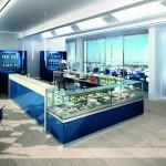 Bancone bar di design laccato colori ral